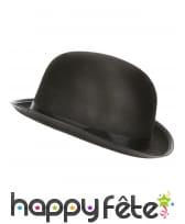 Chapeau melon noir avec ruban noir, image 1