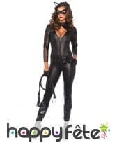 Combinaison moulante noire de catwoman