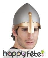 Casque médiéval protège nez pour homme