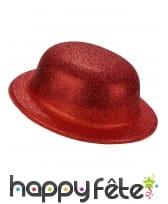 Chapeau melon pailleté en plastique, image 3