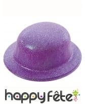Chapeau melon pailletté, image 1