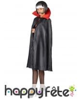 Cape noire avec col rouge pour adulte, image 4