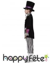Costume noir blanc de chapelier fou pour enfant, image 1