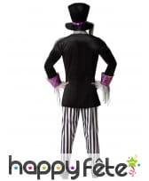 Costume noir blanc de chapelier sinistre, adulte, image 2