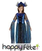 Costume noir bleu de petite reine des araignées