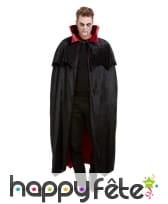 Cape noire de vampire avec doublure rouge, image 2
