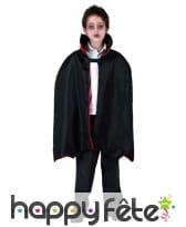 Cape noire de vampire pour enfant