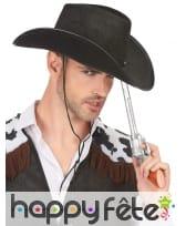 Chapeau noir de cowboy pour adulte, image 2