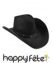 Chapeau noir de cowboy pour adulte