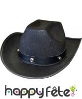 Chapeau noir de cowboy