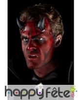 Cornes noires de diable en latex, image 5