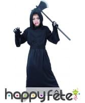 Costume noir de faucheur pour enfant