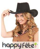 Cowboy noir en suedine, luxe, image 1
