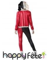 Costume noir rouge d'arlequin tueuse pour femme, image 2