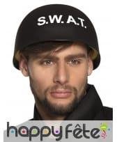 Casque noir S.W.A.T pour homme