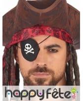 Cache oeil avec insigne de pirate, adulte, image 1