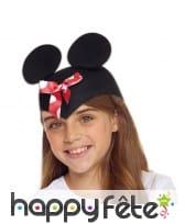 Chapeau oreilles de Minnie Mouse pour enfant