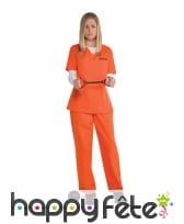 Combinaison Orange Is The New Black pour femme