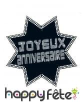 Cut-out joyeux anniversaire VIP étoile 34 x 32 cm