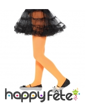 Collants orange opaques pour enfant