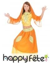 Costume orange petite danseuse de bollywood