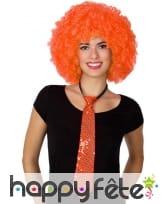 Cravate orange recouverte de sequins