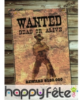 Cut out Wanted dead or alive de 41,5x30 cm