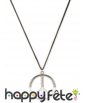 Collier peace and love en métal argenté