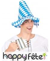 Chapeau pointu bleu et blanc Oktoberfest, image 2