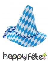 Chapeau pointu bleu et blanc Oktoberfest