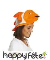 Chapeau poisson clown pour adulte