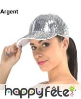 Casquette paillettes disco, image 1