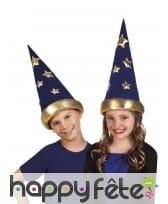 Chapeau pointu de magicien pour enfant