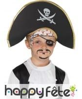 Chapeau pirate enfant bicorne