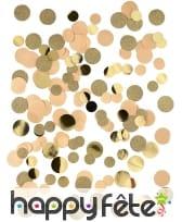 Confettis pailletés et dorés en papier kraft 30g, image 1