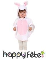 Combinaison petit lapin blanc et rose pour enfant