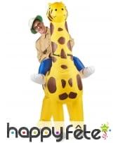 Costume Porte Moi gonflable de girafe pour adulte, image 1