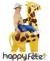 Costume Porte Moi gonflable de girafe pour adulte, image 2