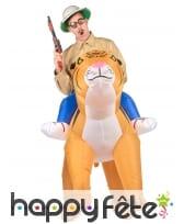 Costume Porte Moi gonflable de tigre pour adulte, image 1