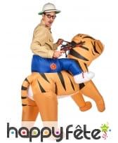 Costume Porte Moi gonflable de tigre pour adulte, image 2