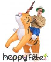 Costume Porte Moi gonflable de tigre pour adulte