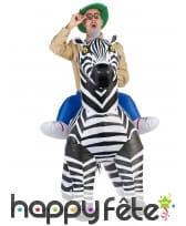 Costume Porte Moi gonflable de zèbre pour adulte, image 1