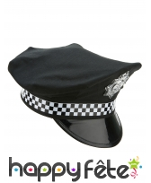 Casquette policier noire et blanche, image 2