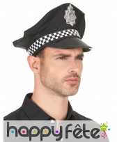 Casquette policier noire et blanche, image 4