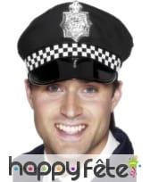 Casquette policier noire et blanche