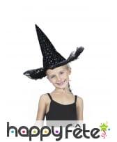 Chapeau pointu noir avec étoiles colorées, enfant