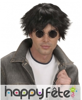 Courte perruque noire pour homme