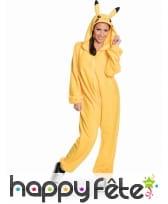 Combinaison Pikachu pour adulte, image 2