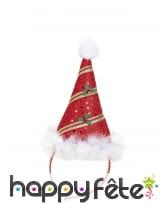 Chapeau pointu rouge de Noël, image 2