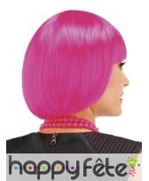 Courte perruque rose style cabaret pour enfant, image 1